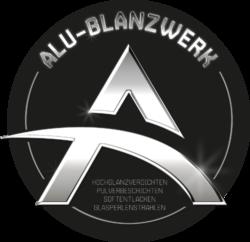 Logo Aluglanzwerk als Vorlage für eine Logoanimation